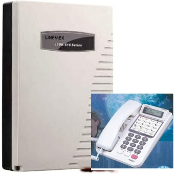 電話總機聯盟電話總機:3外線8分機阜主機+6台6外線鍵顯示型分機(內含來電顯示,自動語音)