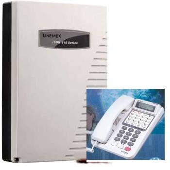 電話總機聯盟總機:3外線8分機阜主機+8台6外線鍵顯示型分機(內含來電顯示,自動語音)