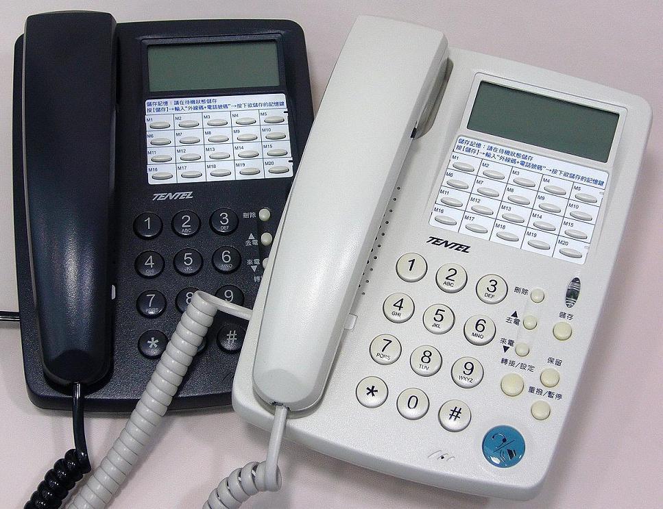 電話總機國洋電話機 K-361免持對講多功能來電顯示電話機-可用耳機