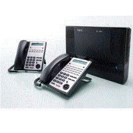 電話總機NEC SL1000 IP PBX  網路電話總機(4外線8分機孔)+8台顯示型功能話機