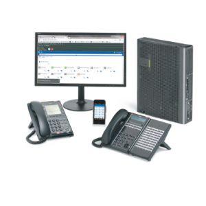 電話總機NEC SL2100 IP PBX  電話總機(3外線8分機孔) + 4台12外線鍵顯示型功能電話機