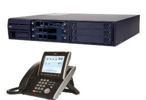 電話總機NEC IP交換機(SV8100)-系統容量: 8外線32分機孔+32台6 鍵顯示型數位話機 (黑色)+自動語音總機