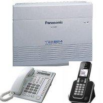 電話總機TES-314W國際牌無線總機: 3外線總機+1銀幕話機+4支無線話機