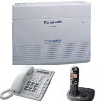 電話總機TES-618W國際牌無線總機: 6外線總機+1銀幕話機+8支無線話機
